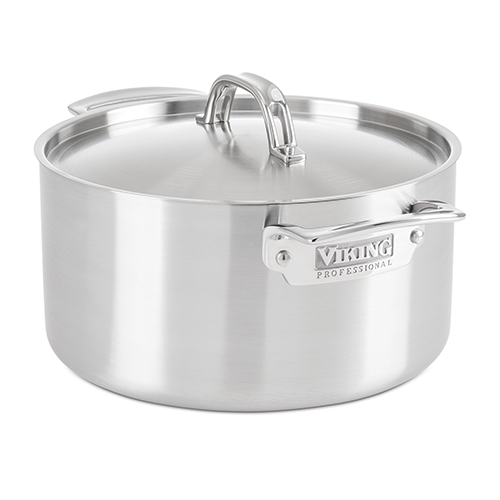 Viking Professional 5-Ply 6.0 Qt., 5.7 l. Stock Pot, Satin Finish