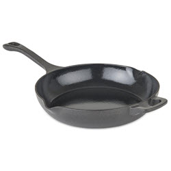 Viking Cast Iron 10.5 in Chef's Pan with Spouts