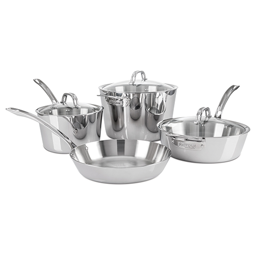 Viking Contemporary 7 pc Cookware Set, Mirror Finish